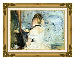 Berthe Morisot Lady At Her Toilette canvas with museum ornate gold frame