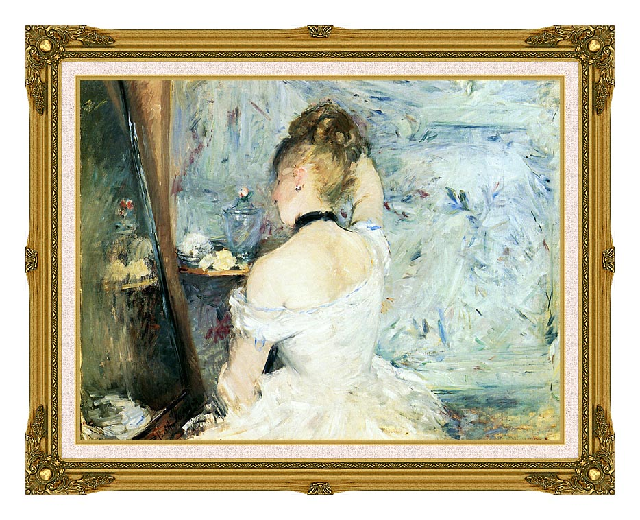 Berthe Morisot Lady at Her Toilette with Museum Ornate Frame w/Liner