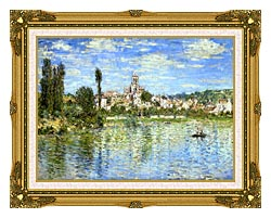 Claude Monet Vetheuil In Summer canvas with museum ornate gold frame