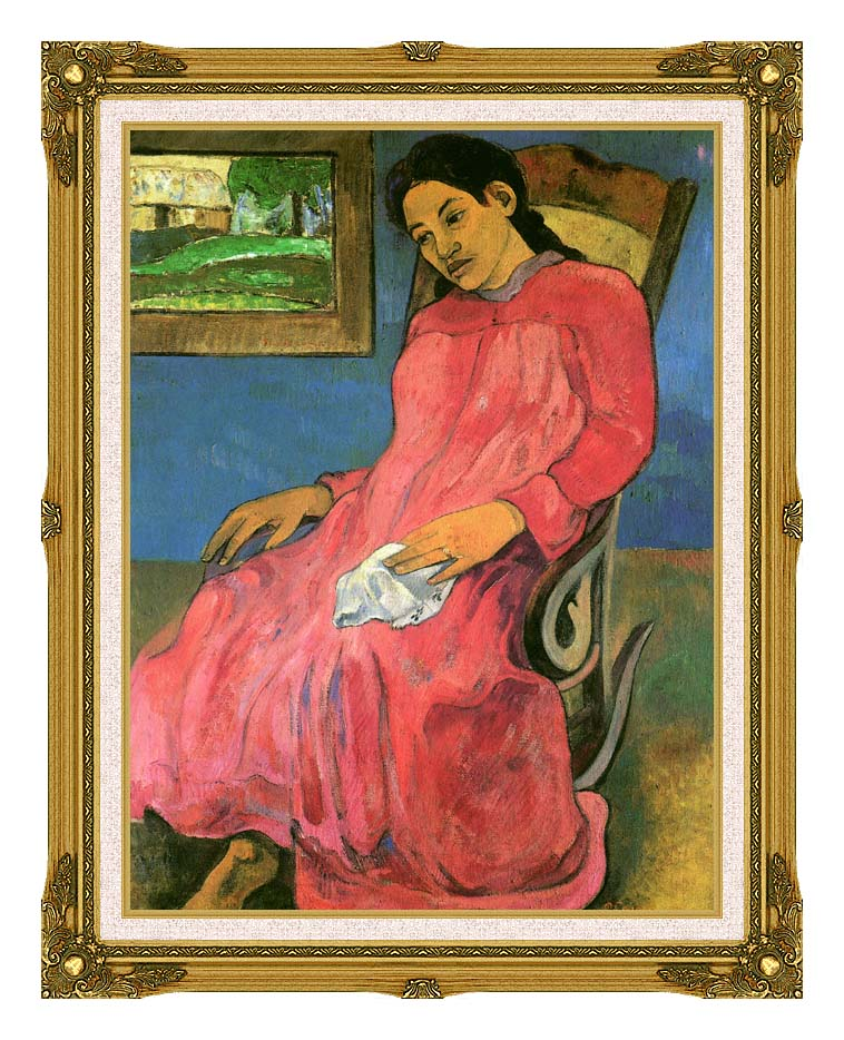Paul Gauguin The Dreamer with Museum Ornate Frame w/Liner