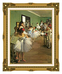 Edgar Degas The Dance Class canvas with museum ornate gold frame