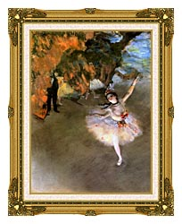 Edgar Degas The Star canvas with museum ornate gold frame
