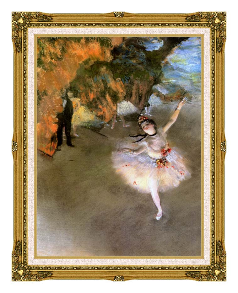 Edgar Degas The Star with Museum Ornate Frame w/Liner