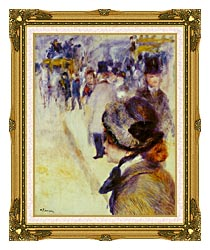 Pierre Auguste Renoir Place Clichy canvas with museum ornate gold frame