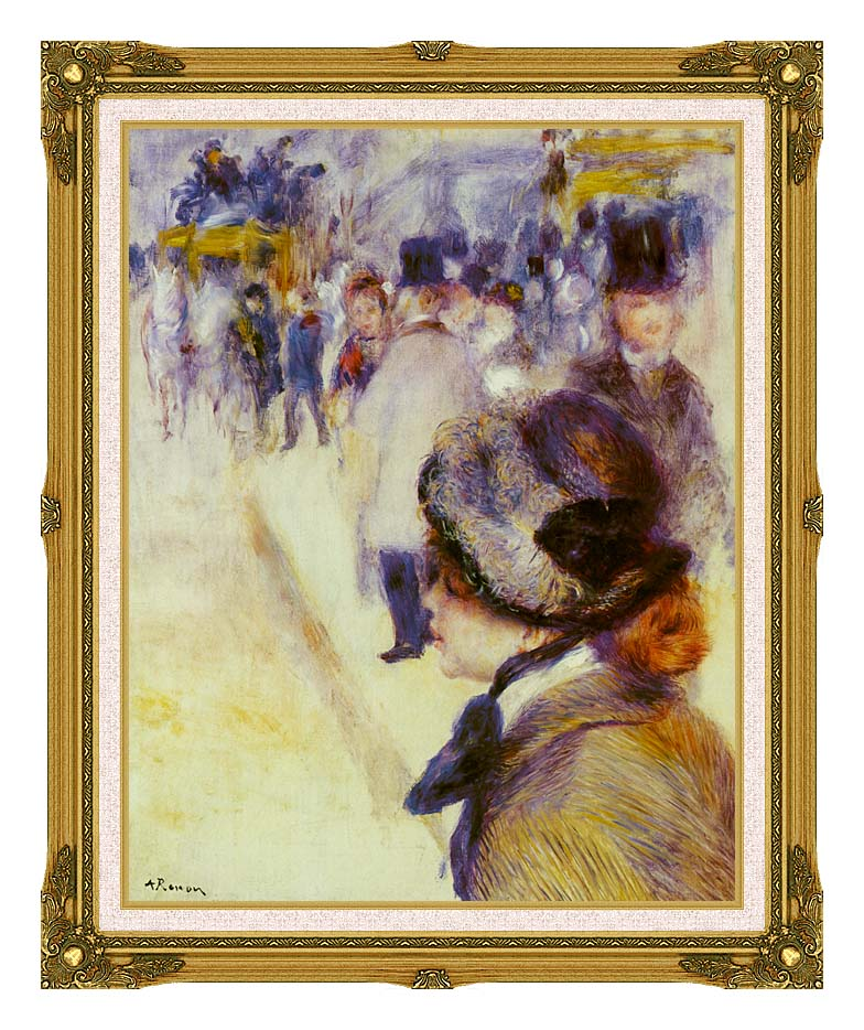 Pierre Auguste Renoir Place Clichy with Museum Ornate Frame w/Liner