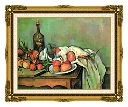 Paul Cezanne Still Life With Onions canvas with museum ornate gold frame