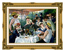 Pierre Auguste Renoir The Luncheon Of The Boating Party canvas with museum ornate gold frame