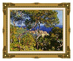Claude Monet Bordighera canvas with museum ornate gold frame