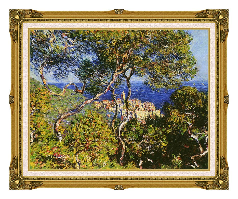 Claude Monet Bordighera with Museum Ornate Frame w/Liner