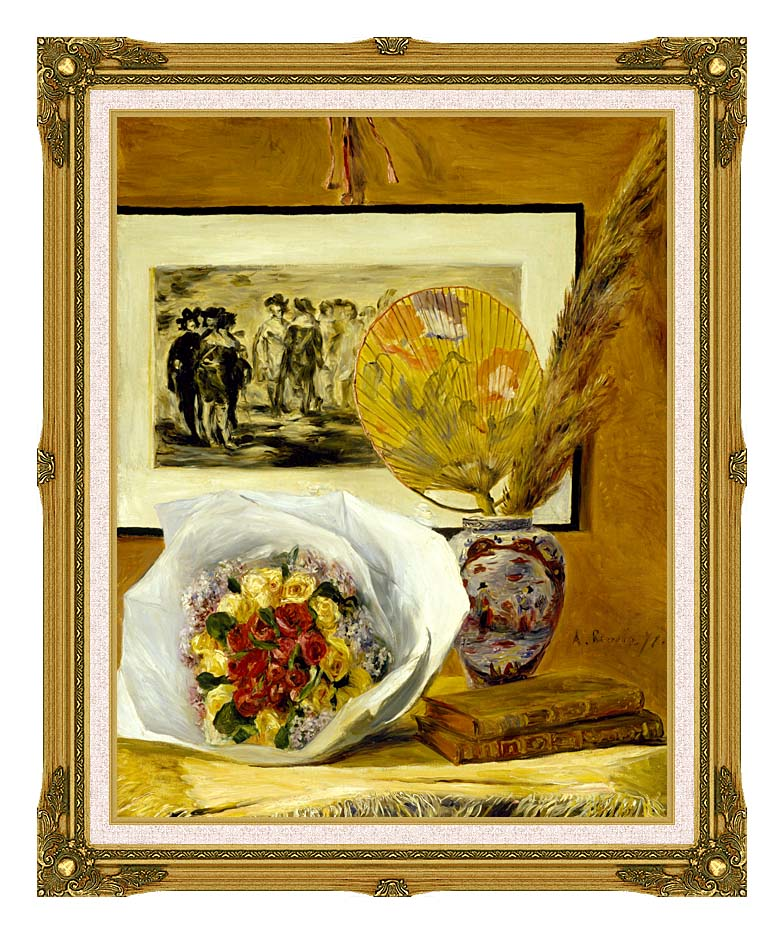 Pierre Auguste Renoir Still Life with Bouquet with Museum Ornate Frame w/Liner