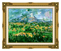 Paul Cezanne Mont Sainte Victoire 1904 canvas with museum ornate gold frame