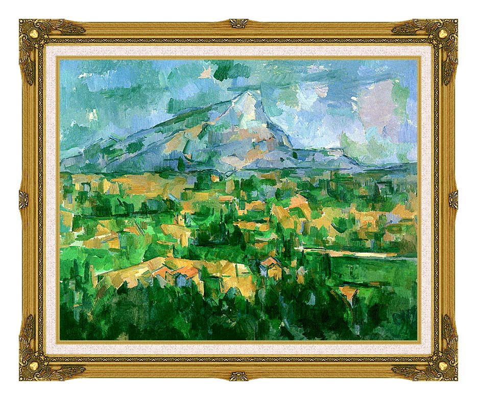 Paul Cezanne Mont Sainte-Victoire 1904 with Museum Ornate Frame w/Liner