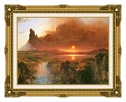 Frederic Edwin Church Cotopaxi Detail canvas with museum ornate gold frame