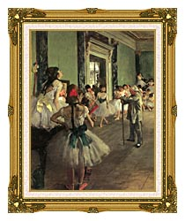 Edgar Degas Dance Class canvas with museum ornate gold frame