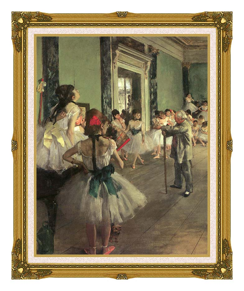 Edgar Degas Dance Class with Museum Ornate Frame w/Liner