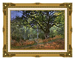 Claude Monet The Bodmer Oak Forest Of Fontainebleau canvas with museum ornate gold frame