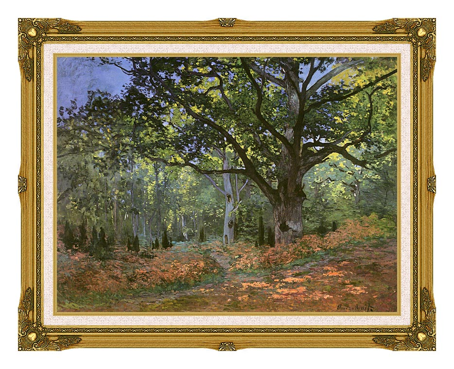 Claude Monet The Bodmer Oak, Forest of Fontainebleau with Museum Ornate Frame w/Liner