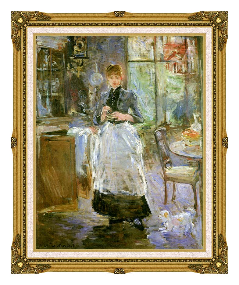 Berthe Morisot In the Dining Room with Museum Ornate Frame w/Liner