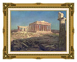 Frederic Edwin Church The Parthenon Detail canvas with museum ornate gold frame