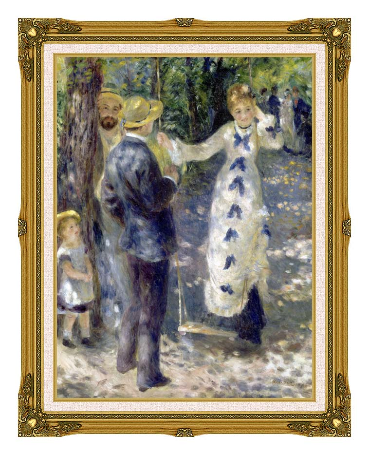 Pierre Auguste Renoir The Swing with Museum Ornate Frame w/Liner