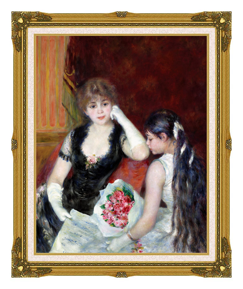 Pierre Auguste Renoir At the Concert with Museum Ornate Frame w/Liner