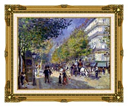 Pierre Auguste Renoir The Great Boulevards canvas with museum ornate gold frame