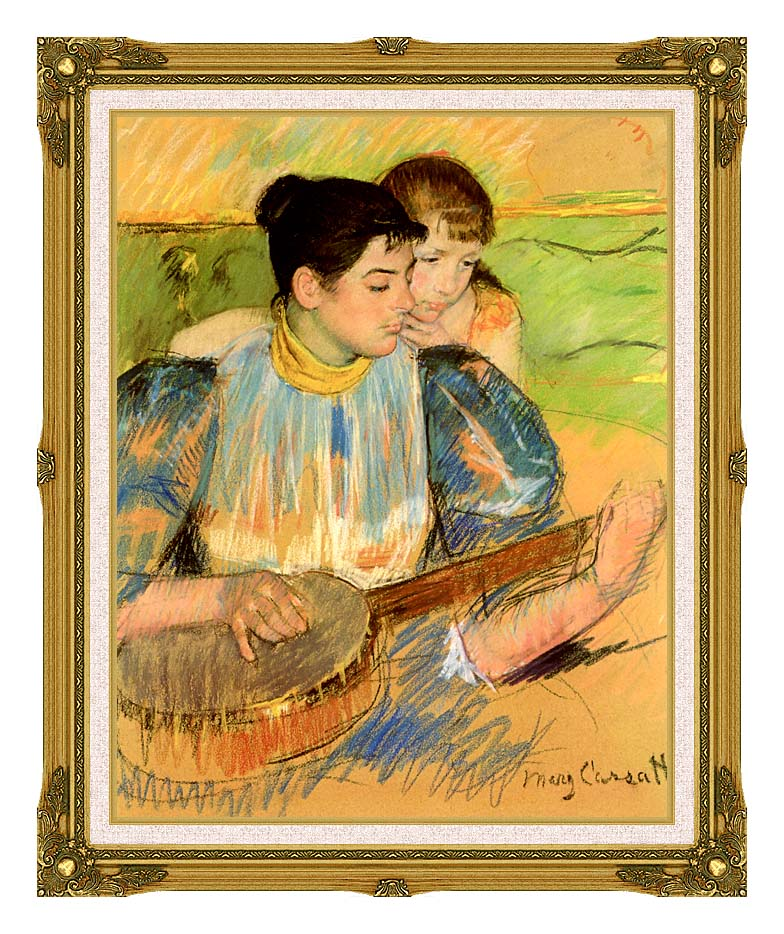 Mary Cassatt The Banjo Lesson with Museum Ornate Frame w/Liner