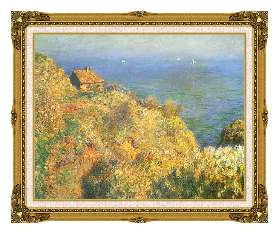 Claude Monet The Fisherman's House, Varengeville with Museum Ornate Frame w/Liner