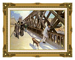 Gustave Caillebotte Le Pont De Leurope canvas with museum ornate gold frame