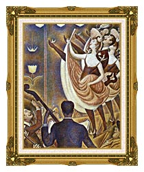 Georges Seurat Le Chahut canvas with museum ornate gold frame