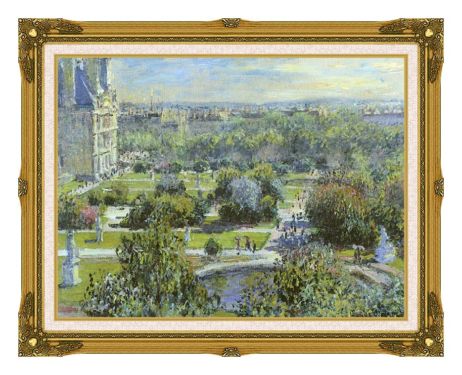 Claude Monet The Tuileries with Museum Ornate Frame w/Liner