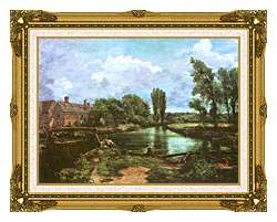 John Constable A Water Mill canvas with museum ornate gold frame