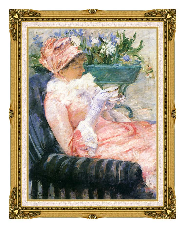Mary Cassatt The Cup of Tea with Museum Ornate Frame w/Liner
