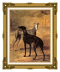 Jacques Laurent Agasse Rolla And Portia canvas with museum ornate gold frame