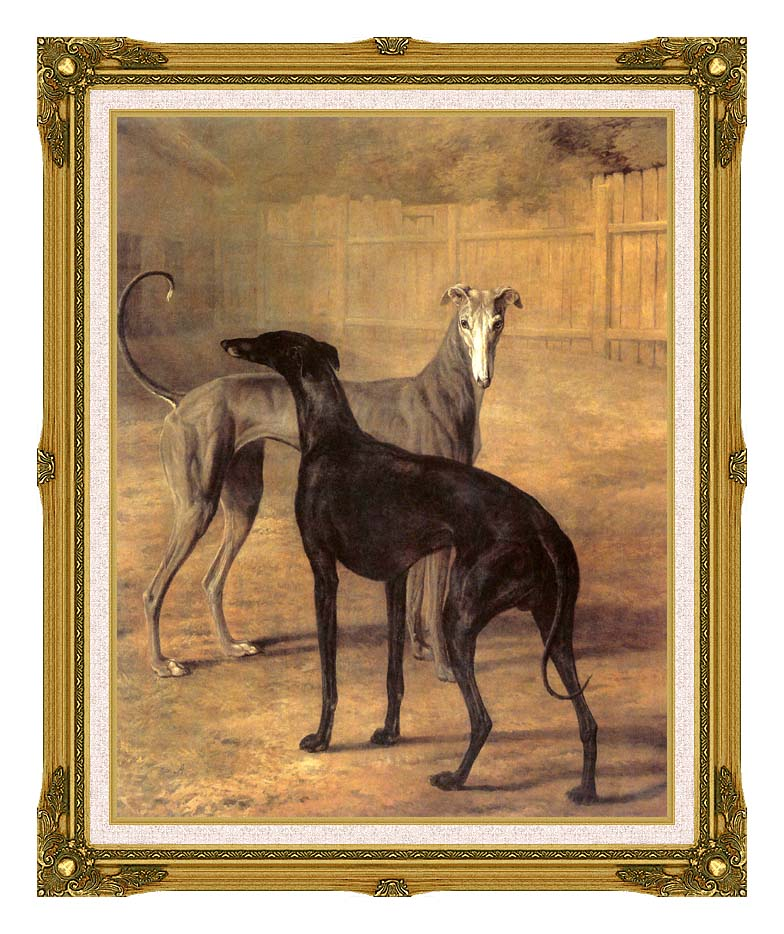 Jacques Laurent Agasse Rolla and Portia with Museum Ornate Frame w/Liner