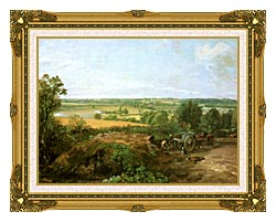 John Constable View Of Dedham canvas with museum ornate gold frame
