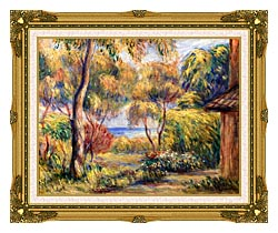 Pierre Auguste Renoir Landscape At Cagnes canvas with museum ornate gold frame