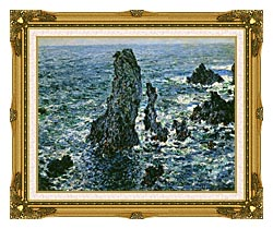 Claude Monet The Pyramids Of Port Coton canvas with museum ornate gold frame