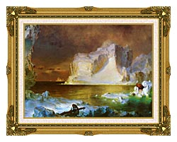 Frederic Edwin Church The Icebergs Detail canvas with museum ornate gold frame