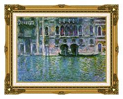 Claude Monet Venice Palazzo Da Mula canvas with museum ornate gold frame