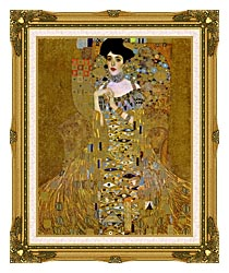 Gustav Klimt Adele Bloch Bauer I Detail canvas with museum ornate gold frame