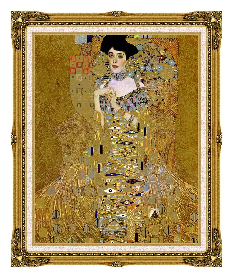 Gustav Klimt Adele Bloch-Bauer I (detail) with Museum Ornate Frame w/Liner