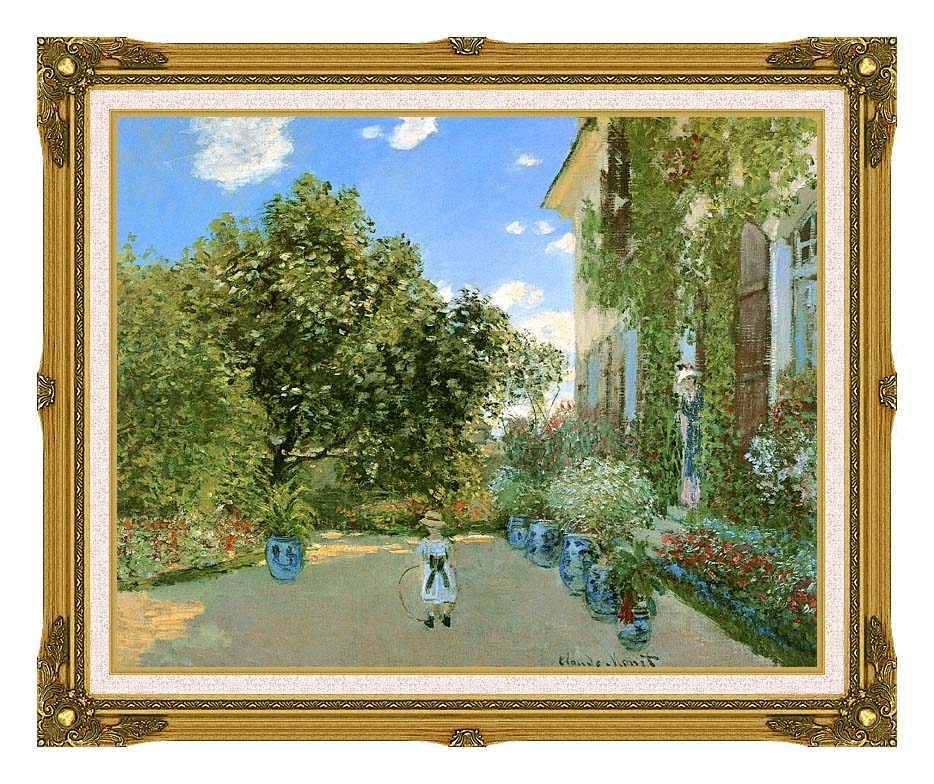 Claude Monet Monet's House at Argenteuil with Museum Ornate Frame w/Liner