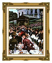 James Tissot The Painters And Their Wives canvas with museum ornate gold frame