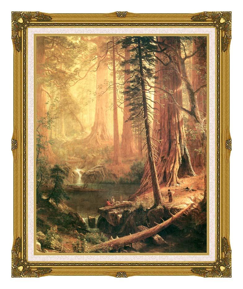 Albert Bierstadt Giant Redwoods of California with Museum Ornate Frame w/Liner