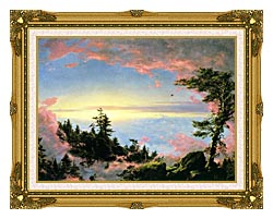 Frederic Edwin Church Above The Clouds At Sunrise canvas with museum ornate gold frame