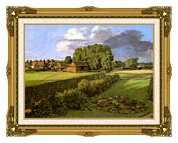 John Constable Golding Constables Flower Garden canvas with museum ornate gold frame