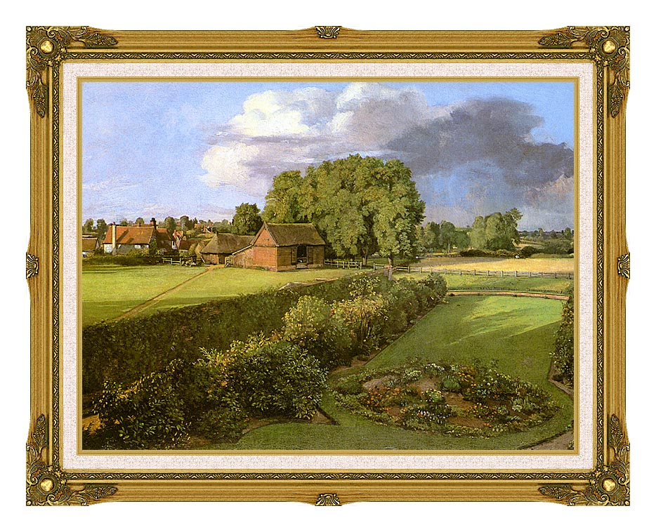 John Constable Golding Constable's Flower Garden with Museum Ornate Frame w/Liner
