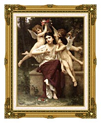 William Bouguereau A Dream Of Spring canvas with museum ornate gold frame
