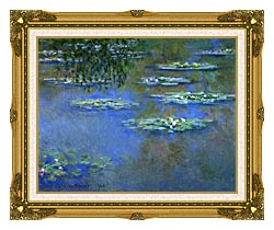 Claude Monet Water Lilies 1903 canvas with museum ornate gold frame